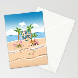 Quilting by the Sea Stationery Cards