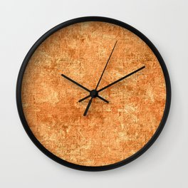 Pumpkin Oil Painting Color Accent Wall Clock