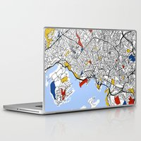 oslo Laptop & iPad Skins featuring Oslo by Mondrian Maps