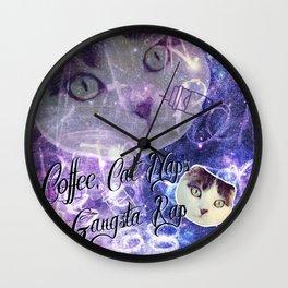 Kitson the gangsta cat Wall Clock