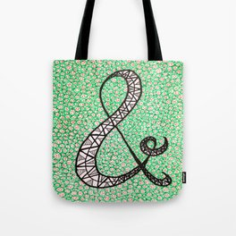 Green Ampersand Tote Bag