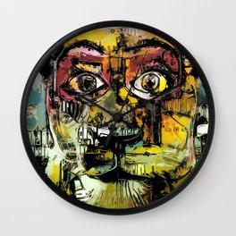 Lion Eyes Abstract Human Animal Illustration Wall Clock