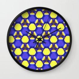 Blue labyrinth Wall Clock