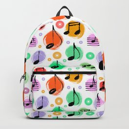 Music Pattern | Note Instrument Musical Listening Backpack