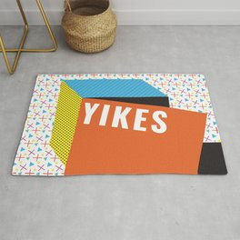 Bright Memphis Throwback Retro 1990s 80s Trendy Hipster Pattern Coral Rug
