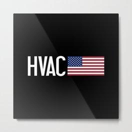 HVAC: HVAC & American Flag Metal Print