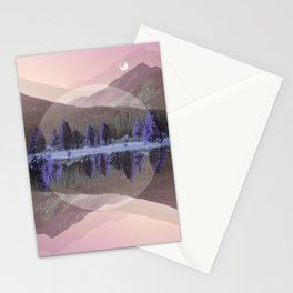 Mountain Mirror Stationery Cards