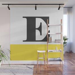 Monogram Letter E-Pantone-Buttercup Wall Mural