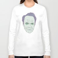 clint eastwood Long Sleeve T-shirts featuring Clint Eastwood by Maciek Szczerba