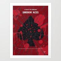 No820 My Smokin Aces minimal movie poster Art Print