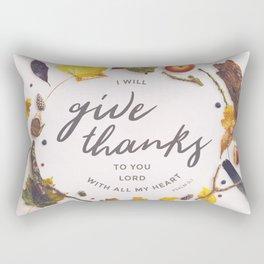 Psalm 9:1 Give Thanks Rectangular Pillow