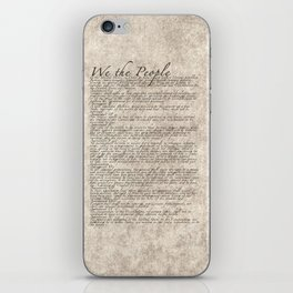 US Constitution - United States Bill of Rights iPhone Skin