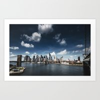 nyc skyline panoramic view Art Print
