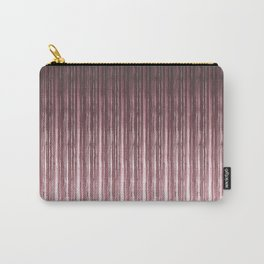 Brown vertical stripes . Carry-All Pouch