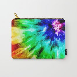 Tie Dye Meets Watercolor Carry-All Pouch