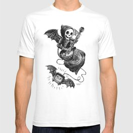 Little Grim Reaper Playing A Guitar T-shirt