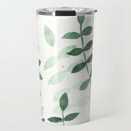 Green leaf pattern Travel Mug