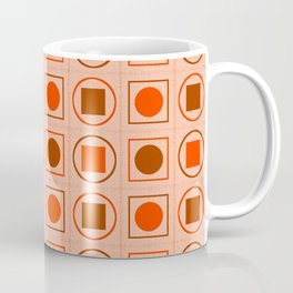 Rounds and Squares (Orange3) Coffee Mug