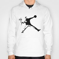 banksy Hoodies featuring #TheJumpmanSeries, Banksy by @thepeteyrich