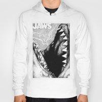 jaws Hoodies featuring Jaws by Sinpiggyhead