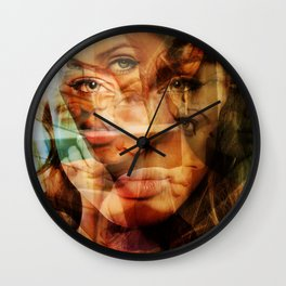 faces of Angelina Jolie3 Wall Clock