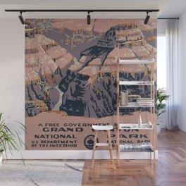 Vintage Grand Canyon Poster Wall Mural