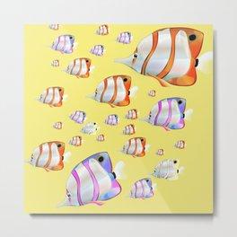 Tropical fish Yellow edition Metal Print