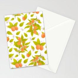 Kumquat botanical pattern Stationery Cards