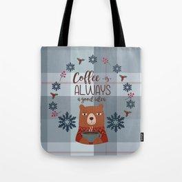 Bearrific Coffeelicious Christmas Tote Bag