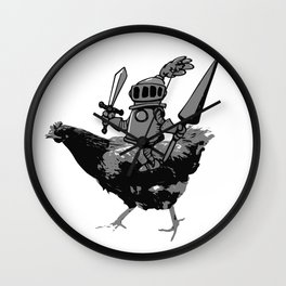 Unconventional Knight Wall Clock