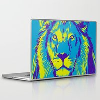 the lion king Laptop & iPad Skins featuring KING LION by free_agent08