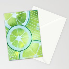 Lime Rings Stationery Cards