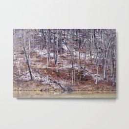 winter tree abstract Metal Print