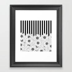 Daisy Stripe Framed Art Print