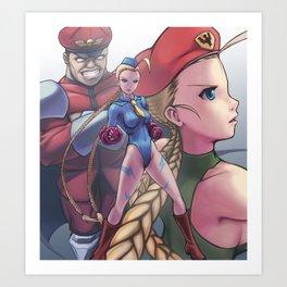 Street Fighter Tribute: Alpha Cammy Art Print