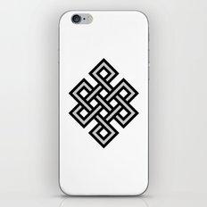 Tibetan knot symbol iPhone & iPod Skin