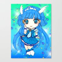 the cure Canvas Prints featuring Cure Beauty by Nina Dessinatrice