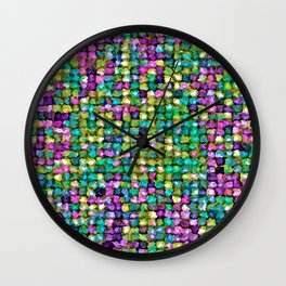 Colored Stones Wall Clock