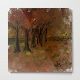 The Trees Beside the Lake Metal Print