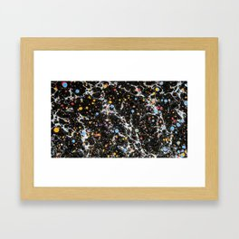 Space Marbling Pattern Hand Printed Framed Art Print