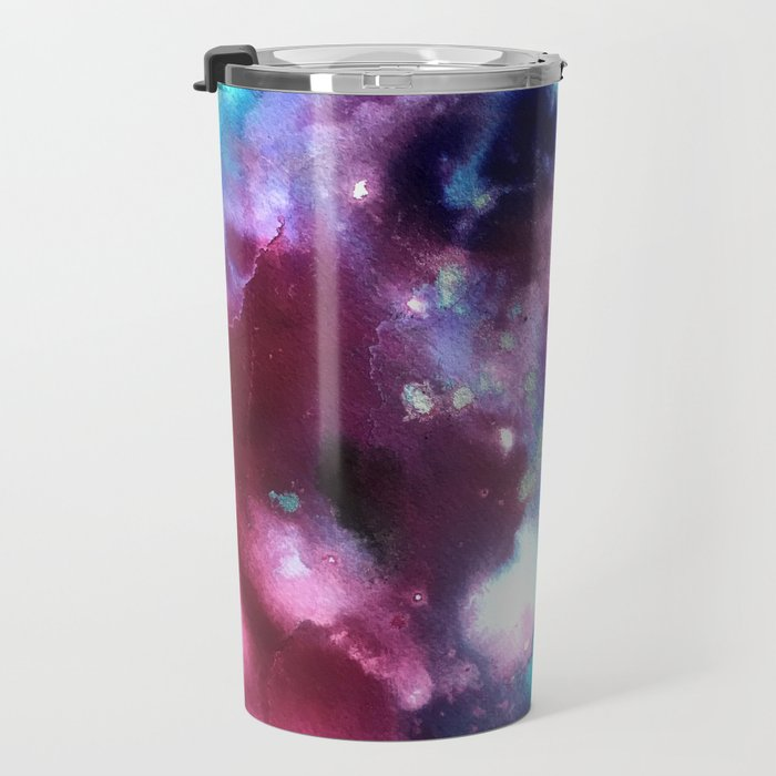 Abstract in Purple and Blue Travel Mug