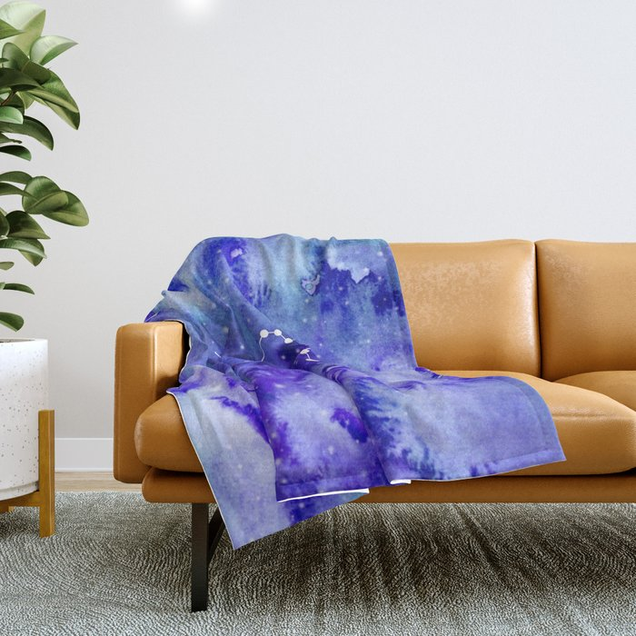 Aquarius Constellation Throw Blanket