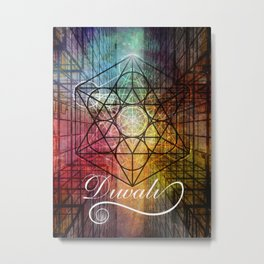 Diwali Festival of Lights Zen Art Metal Print