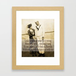 Johnnie, share it all with me. Framed Art Print