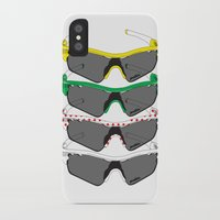 tour de france iPhone & iPod Cases featuring Tour de France Glasses by Pedlin