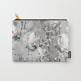 White Snow Flowers Carry-All Pouch