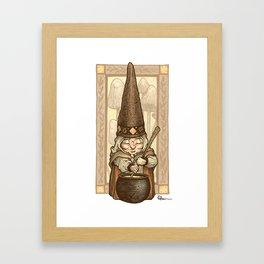 Gnome Cook Framed Art Print