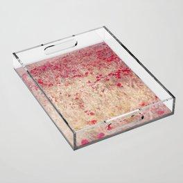 Fields of poppies Acrylic Tray