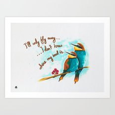Lost birds Art Print