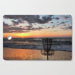 Disc Golf Basket Virginia Beach Atlantic Sunset Frisbee Chesapeake Bay Camping Cutting Board